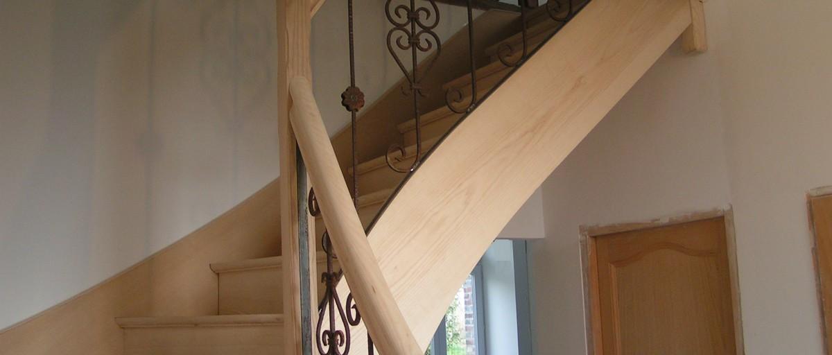 Bernard Forgeot, fabrication escalier dans l'Aube, 10