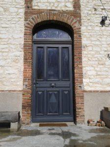 Porte d'entrée réalisée en atelier à Ossey les Trois maisons dans l'Aube,10