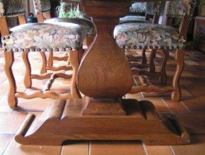Ebénisterie, table en bois massif dans l'Aube et la Marne, menuiserie Forgeot