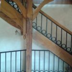 Escalier 2/4 tournant à Saint Julien les Villas dans l'Aube, menuisier Marne, 51