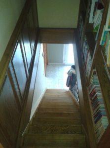 Ebénisterie, aménagement de montée d'escalier