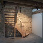 Escalier 1/4 tournant en frêne à Chaourse dans l'Aube, 10