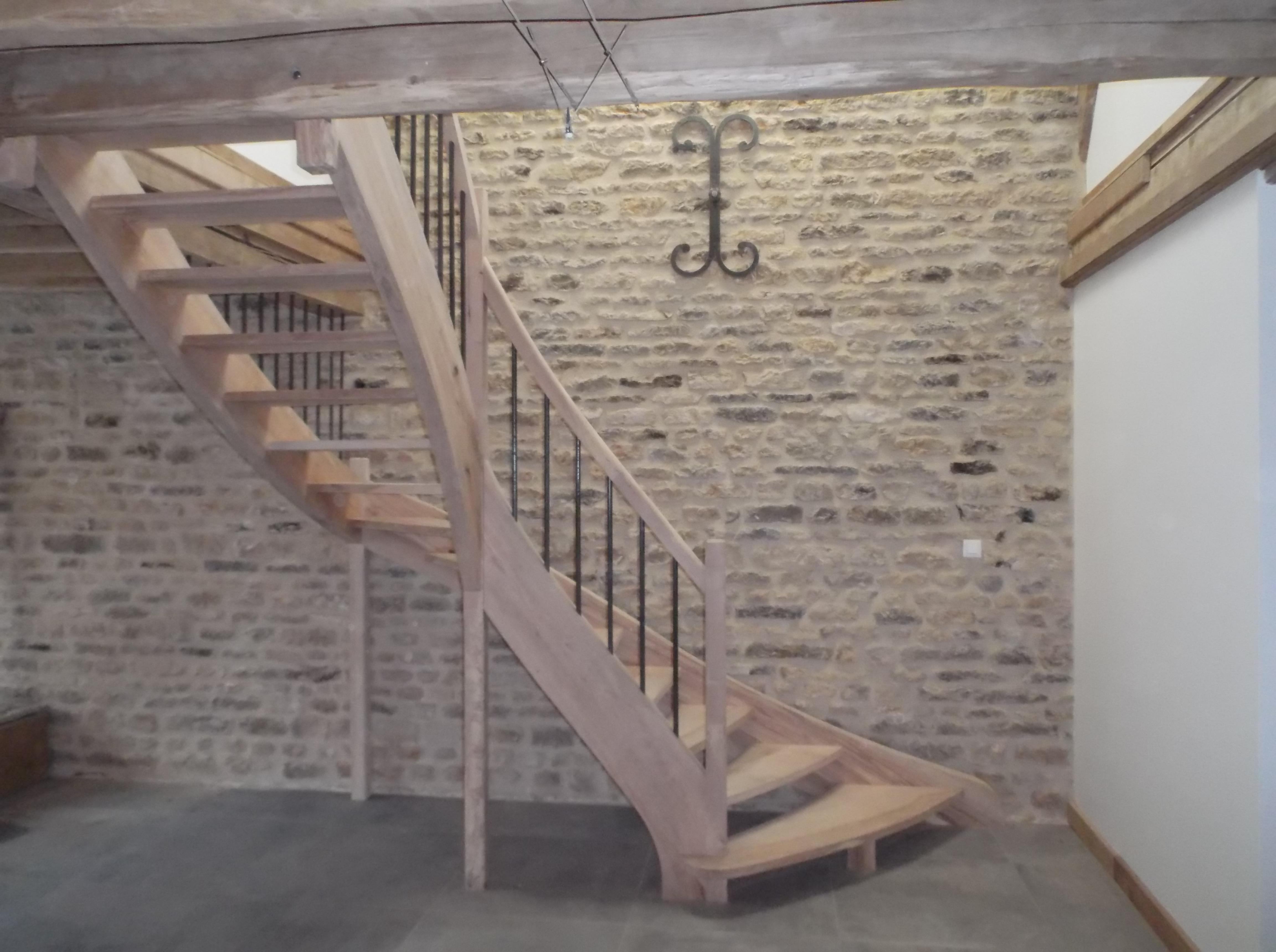Menuisier, escalier, entreprise Forgeot à Romilly sur Seine dans l'Aube, 10
