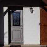 Porte d'entrée, menuisier Forgeot à Romilly sur Seine, porte aluminium